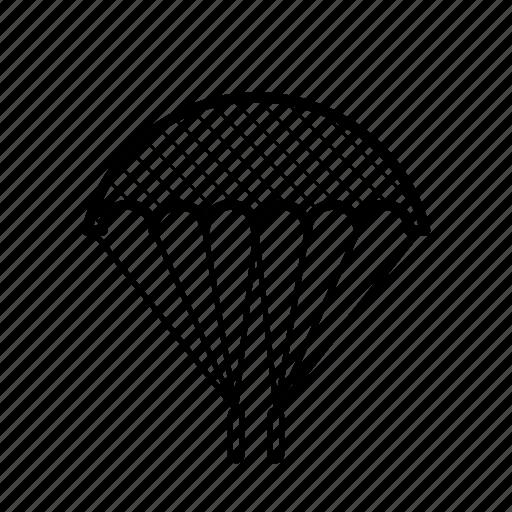 parachute, parasail, recreation, sky dive icon
