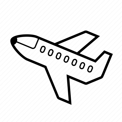 air travel, airline, airplane, jet, plane icon