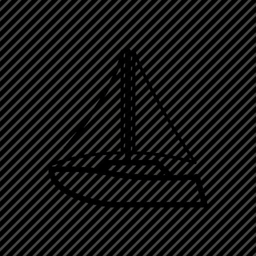 boat, sailboat, sailing icon