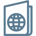 atlas, camping, map, maps, passport, travel icon