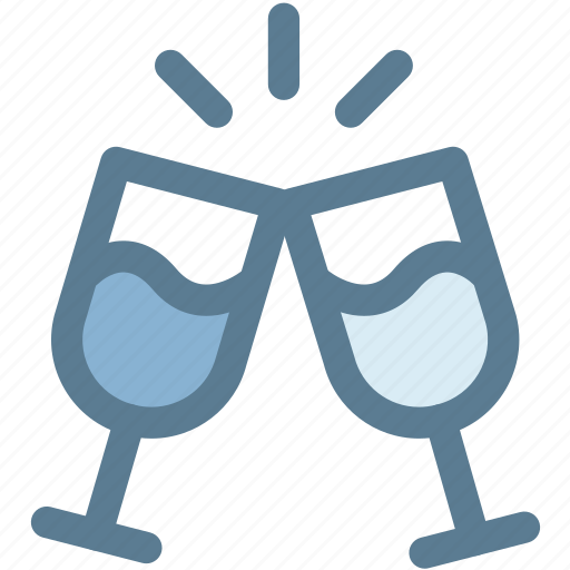 celebration, cheers, glasses, holiday, party, toast, wine icon