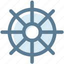 camping, hotel, sailor, ship, ship wheel, steering, steering wheel icon