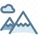 camping, cloud, landscape, mountains, nature, travel icon