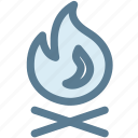 bonfire, camping, fire, holidays, hotel, travel icon