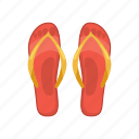 beach, cartoon, footwear, sandal, shoe, slipper, summer icon