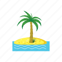 cartoon, exotic, nature, palm, plant, tree, tropical icon