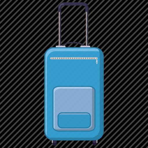 cartoon, journey, luggage, suitcase, tourism, travel, wheel icon