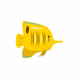 animal, cartoon, fish, nature, sea, tropical, zebrasoma icon
