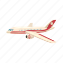 airplane, cartoon, fly, jet, transport, transportation, travel icon