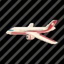 airplane, cartoon, fly, jet, transport, transportation, travel