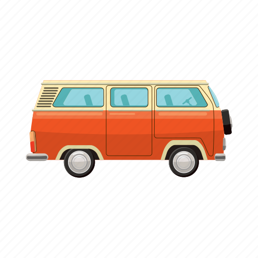 bus, cartoon, orange, school, station, stop, yellow icon