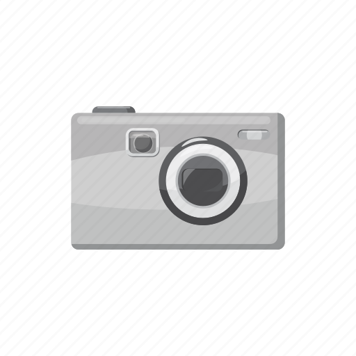 camera, cartoon, gray, photo, photographing, photography, technology icon