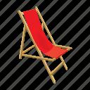 beach, cartoon, chair, lounger, summer, vacation, wood