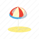 beach, cartoon, parasol, summer, sun, umbrella, yellow icon