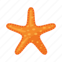 cartoon, finger, five, ocean, sea, starfish, yellow icon