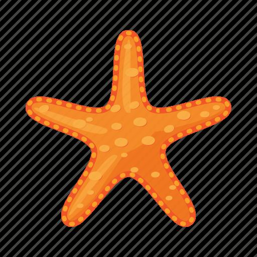cartoon, finger, five, ocean, sea, starfish, yellow icon