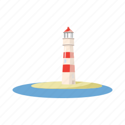 cartoon, light, lighthouse, nautical, ocean, sea, tower icon