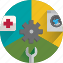 help, info, laundry, service, services, support, tools icon