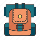 backpack, backpacker, destination, holiday, travel icon