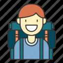 holiday, backpack, backpacker, travel, traveler