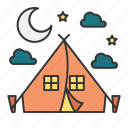 camp, camper, camping, holiday, travel icon