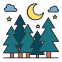 animals, forest, travel, tree, wood icon
