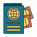 airport, country, pass, passport, travel icon