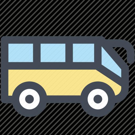 bus, hotel, station, tour, transport, transportation, travel icon