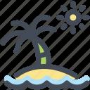 beach, holidays, island, ocean, palm tree, sun, travel