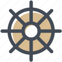 hotel, sailor, ship, ship wheel, steering, steering wheel icon