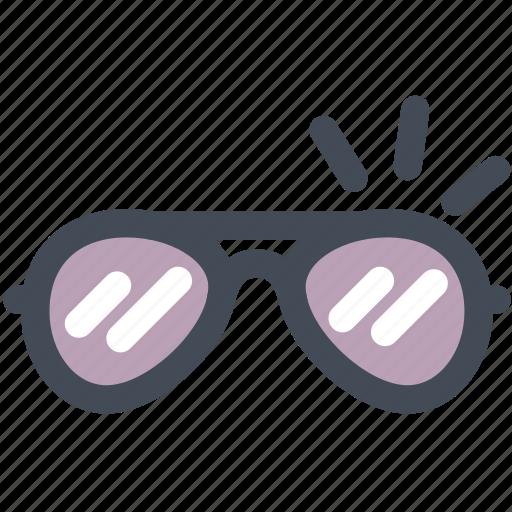 eyeglasses, glasses, specs, spectacles, sunblock, sunglasses icon