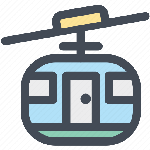 cable car, lift, mountain, ropeway, transportation, travel icon