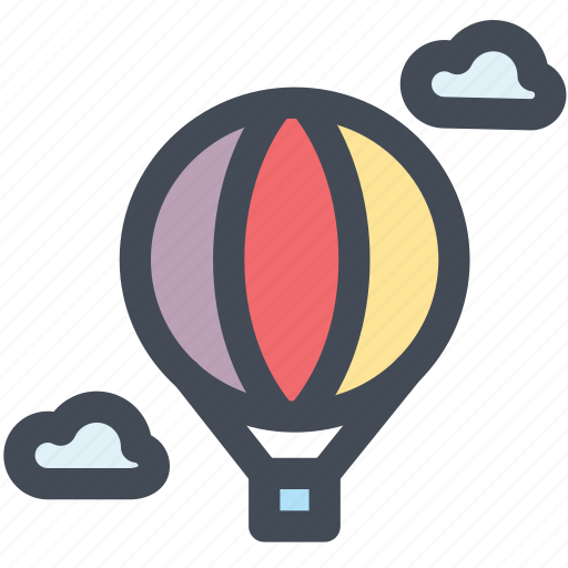 balloon, flight, sightseeing flight, sky, transport, travel icon