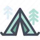 camping, holidays, hotel, tent, tour, travel icon