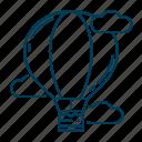 aircraft, balloon, hot air, travel icon
