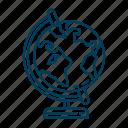 erath, globe, planet, stand, world icon