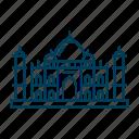 agra, india, landmark, taj mahal, travel icon