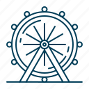 attraction, ferris, wheel icon