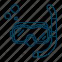 mask, ocean, sea, snorkeling, swimming icon