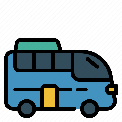 Bus, holiday, journey, transportation, travel, vacation icon - Download on Iconfinder