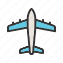aeroplane, aircraft, airplane, flight, jet, plane, transport icon