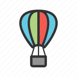 adventure, air, balloon, fun, hot, sky, travel icon