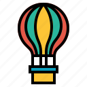 balloon, hot air balloon icon