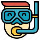 avatar, diving, snorkel icon