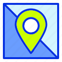 beach, destination, holiday, maps, summer, travel, vacation icon
