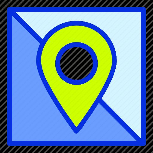 beach, destination, holiday, maps, summer, travel, vacation icon