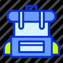 bagpack, holiday, summer, travel, travel bag, vacation icon