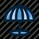 beach, beach umbrella, holiday, summer, travel, vacation icon