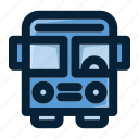 automobile, bus, road trip, transport, transportation, travel, vehicle icon