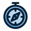 adventure, compass, direction, discovery, navigation, travel icon